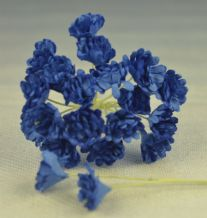 ROYAL BLUE GYPSOPHILA / FORGET ME NOT Mulberry Paper Flowers
